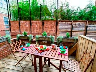 Or take your meals  on the lovely deck
