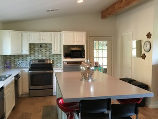 Large open kitchen with 8 x 4 island