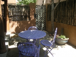 Patio enclosed with Coyote Fence