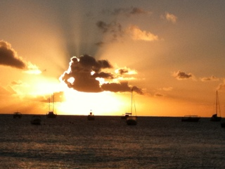 Barbadian Sunset on the West Coast
