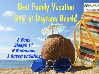 """AWARD WINNING"" Family Beach Vacations DEALS in Daytona Beach, FL!"
